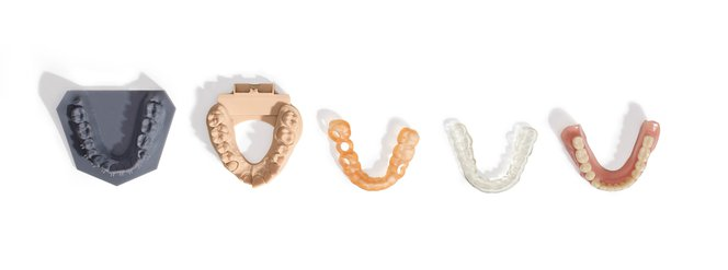 Unterschiedliche Zahnabdrücke
